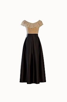 Sukne - Maxi saténová sukňa - 10039870_