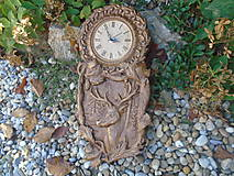 Hodiny - Vyrezávané hodiny (52 x 26 - Hnedá) - 10036705_