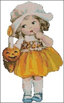 Návody a literatúra - M151 Dievčatko so svetlonosom - predloha na vyšívanie - 10036185_