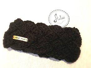 Ozdoby do vlasov - Čelenka Braid (Čierna) - 10039444_