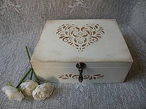 Krabičky - Originální krabička dárková, svatební s reliéfem - 10036065_