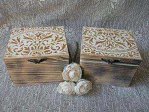 Darčeky pre svadobčanov - Svatební krabička,dárková s reliéfem - 10036183_