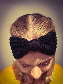 Ozdoby do vlasov - Háčkovaná čelenka - 10039343_