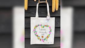 Nákupné tašky - ♥ Plátená, ručne maľovaná taška ♥ (MI16) - 10036459_