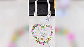 Nákupné tašky - ♥ Plátená, ručne maľovaná taška ♥ (MI16) - 10036528_