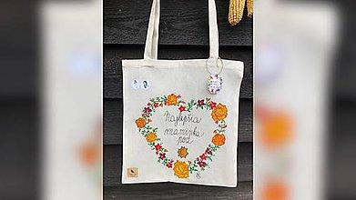 Nákupné tašky - ♥ Plátená, ručne maľovaná taška ♥ (MI10) - 10036427_
