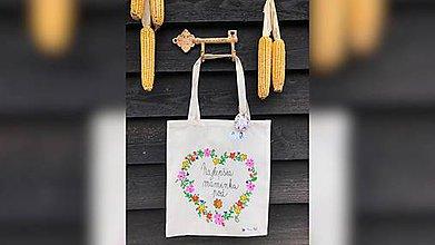 Nákupné tašky - ♥ Plátená, ručne maľovaná taška ♥ (MI16) - 10036458_