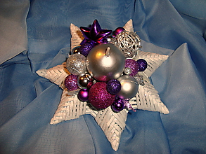 Svietidlá a sviečky - svietnik hviezda - 10038431_