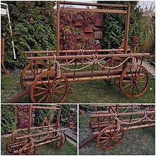 Dekorácie - Dreveny voz rebrinak na reklamu - 10036250_
