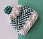 Detské čiapky - Čiapka pletená - 10036632_