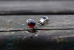 Náušnice - Granát Almandín náušnice Ag 925 - 10038090_