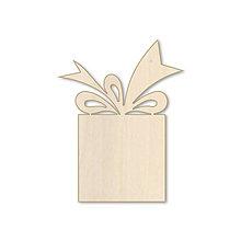 Polotovary - Darček - vianočný drevený výrez - 10038576_
