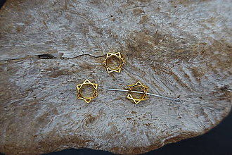 Korálky - Dávidova hviezda (Zlatá) - 10037113_