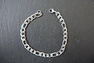 Komponenty - Retiazka na náramok - stainless steel - 2 (Strieborná) - 10037876_
