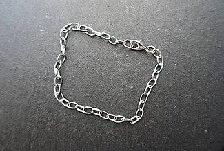 Komponenty - Retiazka na náramok - stainless steel - 1 (1) - 10037890_