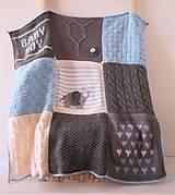 Textil - Detská ručne pletená deka - 10040034_