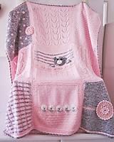 Textil - Detská ručne pletená deka - 10040039_