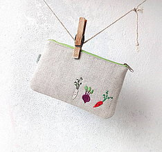 Taštičky - Taštička Zelenina (s koženkou) - 10037517_
