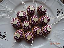 Dekorácie - Oriešky - chalupárske bordové - 10036818_