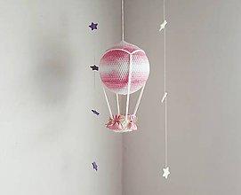 Hračky - háčkovaný balón ružový ZĽAVA 20% - 10039908_