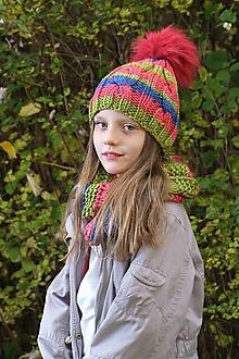 Čiapky - ZĽAVA z 14,50 - Dámsky čiapka vo veselých farbách - 10037671_