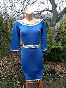 Šaty - Pletené šaty na objednávku - 10039089_