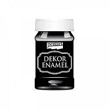 Farby-laky - Dekor Enamel - čierna, 100ml - 10037872_