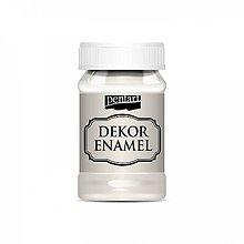 Farby-laky - Dekor Enamel - krémovo biela, 100ml - 10038250_