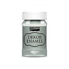 Farby-laky - Dekor Enamel - olivovozelená, 100ml - 10038255_
