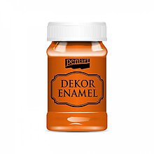Farby-laky - Dekor Enamel - pomarančová, 100ml - 10038273_