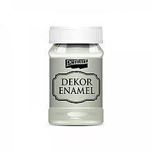 Farby-laky - Dekor Enamel - lišajníkovozelená, 100ml - 10038274_