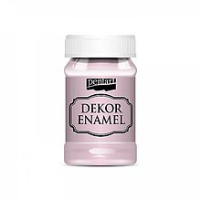 Farby-laky - Dekor Enamel - ružová, 100ml - 10038311_