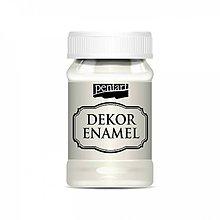 Farby-laky - Dekor Enamel - prírodná biela, 100ml - 10038324_