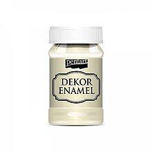 Farby-laky - Dekor Enamel - slonovinová, 100ml - 10038427_