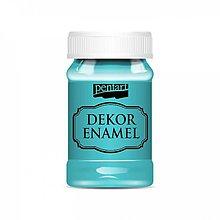 Farby-laky - Dekor Enamel - tyrkysovo modrá, 100ml - 10038437_