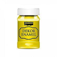 Farby-laky - Dekor Enamel - žltá, 100ml - 10038441_