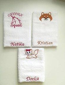 Úžitkový textil - uteráčik na želanie - 10042674_
