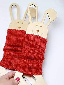 Iné doplnky - Pletené štucne merino - RED - hrubé - 10040425_