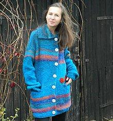 Kabáty - Svetrokabátik Tyrkysáček - 10041939_