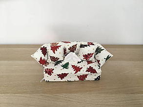 Krabičky - Obal na servítky - Vianočný stromček - 10041954_
