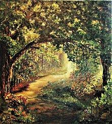 Obrazy - Pod košatým dubom - 10040787_