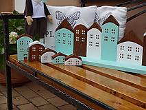 Dekorácie - Sada drevených domčúrikov - 10040660_