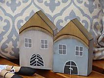 Dekorácie - Staré drevené domčeky - 10040971_