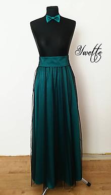 Sukne - YWETTE: luxusná saténová sukňa s tylom podľa mňa - 10042812_