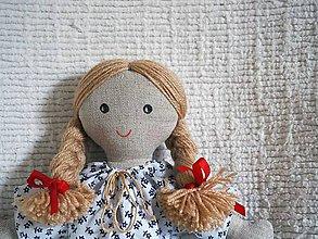 Bábiky - handrová bábika Katka - 10041239_