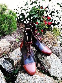 Obuv - Slovenský výrobok hand made dámské zimné topánky - 10043769_