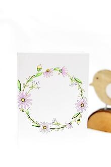 Papiernictvo - Maľovaná pohľadnica - text podľa priania (Venček) - 10042779_