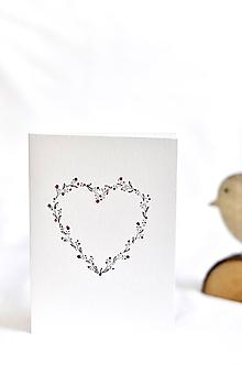 Papiernictvo - Maľovaná pohľadnica - text podľa priania (Srdiečko 1) - 10042787_
