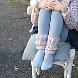 Detské doplnky - návleky na nôžky pre dievčatko PURE ELEGANCE - 10040398_