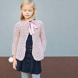 Detské oblečenie - dievčenský svetrík PURE ELEGANCE - 10040442_